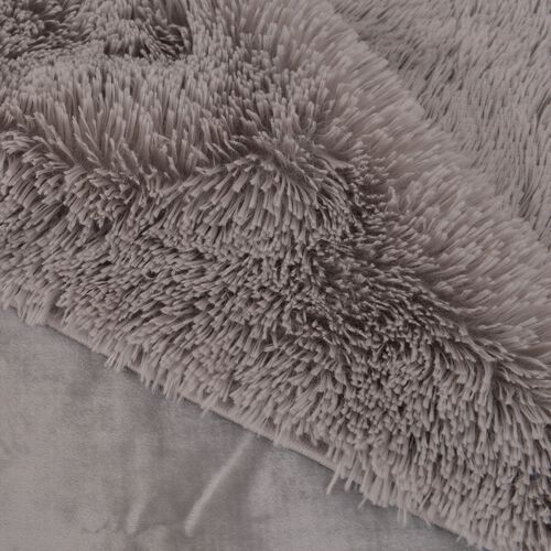 Super-Plush Extra-Long Pile Silver Colour YETI Blanket (Size 200X150 Cm)