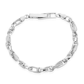Designer Inspired Vicenza Collection Fancy Link Sterling Silver Bracelet, Silver wt. 14.65 Gms.