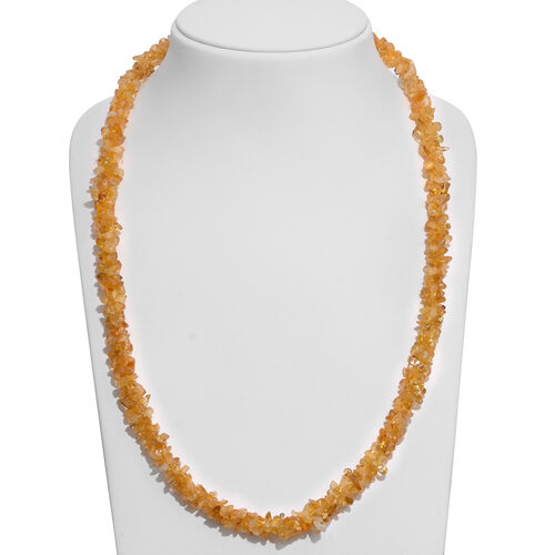 One Time Deal- Brazilian Citrine Beads Necklace (Size 24) 540.000 Ct.