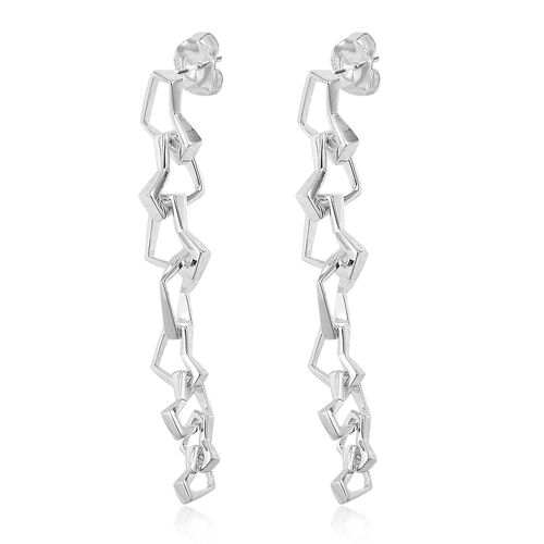 RACHEL GALLEY Sterling Silver Love and Peace Dangle Earrings (with Push Back), Silver wt 14.96 Gms.