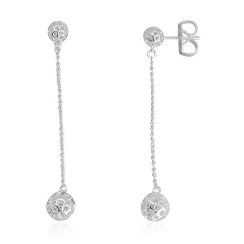 RACHEL GALLEY Sterling Silver Mini Globe Double Drop Earrings (with Push Back)