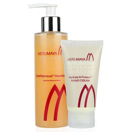 MERUMAYA- Healing Hands- Confidensual Handwash (20ml) and Hydrate & Protect Hand Cream (50 ml) - Estimated delivery within 3 working days