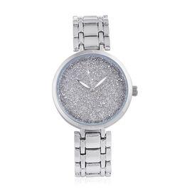 GENOA Silverlight Swarovski Crystal Watch in Silver Tone