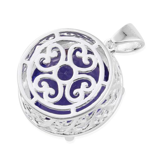 AAA Simulated Tanzanite (Rnd) Pendant in Sterling Silver