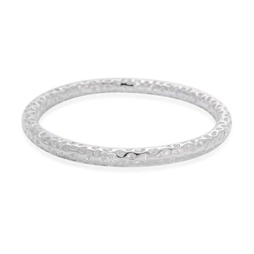 RACHEL GALLEY Sterling Silver Allegro Bangle (Size 7.5 / Small), Silver wt 16.20 Gms.