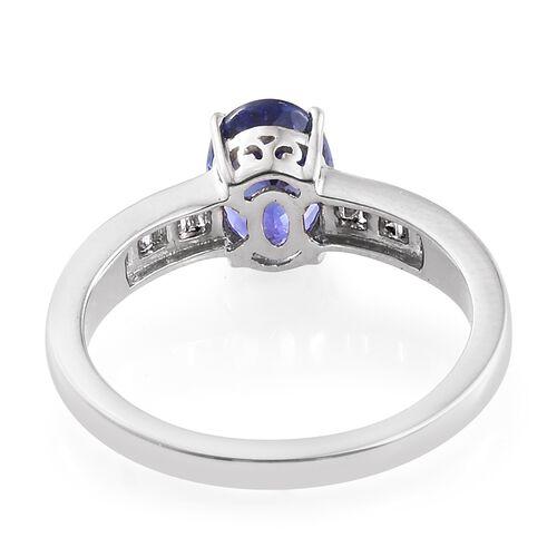 RHAPSODY 950 Platinum 1.85 Ct AAAA Tanzanite Ring with  Diamond VS E-F, Platinum wt 5.03 gm