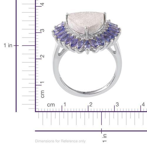 Meteorite (Trl 10.00 Ct), Tanzanite Ring in Platinum Overlay Sterling Silver 12.000 Ct.