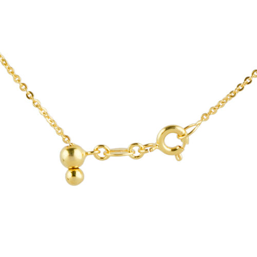 Vicenza Collection 14K Gold Overlay Sterling Silver Adjustable Necklace (Size 20), Silver wt. 3.00 Gms.