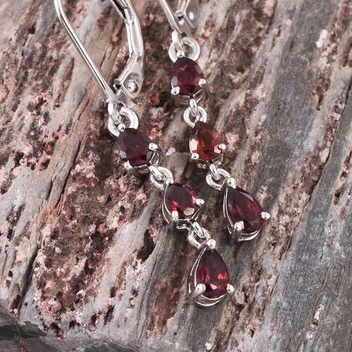 Mahenge Spinel (Pear) Lever Back Earrings in Platinum Overlay Sterling Silver 1.000 Ct.