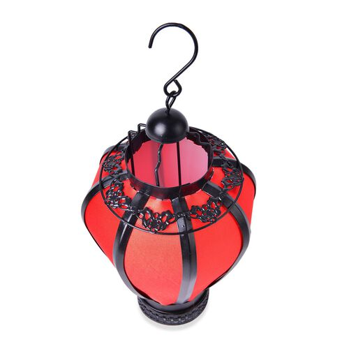 Decorative Red Hanging Lantern (Size 25X16 Cm)