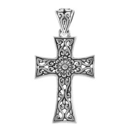 Royal Bali Collection Sterling Silver Cross Pendant