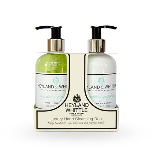 HEYLAND AND WHITTLE - Greentea and Grapefruit Hand Wash and Hand Lotion Caddy with Foam Bath