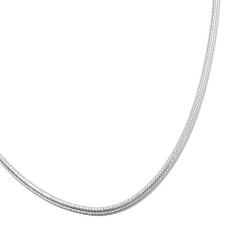 Super Auction - Vicenza Collection Rhodium Plated Sterling Silver Snake Chain (Size 30), Silver wt. 18.28 Gms.