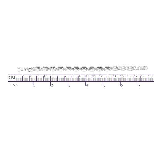 Sterling Silver Mariner Link Bracelet (Size 7.5), Silver wt 10.90 Gms.