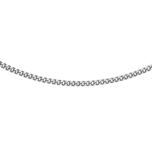 RHAPSODY 950 Platinum Diamond Cut Curb Chain (Size 18), Platinum wt. 3.30 Gms.