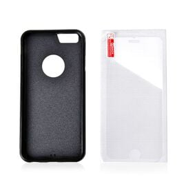 Antigravity iPHONE 5S Phone Cover Black with Logo Hole and Toughened Membrane (Size 10x6 Cm)