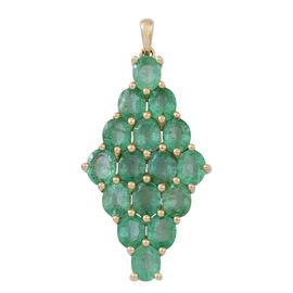 9K Y Gold AAA Kagem Zambian Emerald (Ovl) Pendant 5.000 Ct.