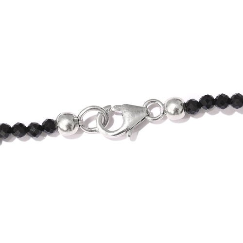 Austrian Pinolith (Ovl 26.00 Ct), Boi Ploi Black Spinel Necklace (Size 18) in Platinum Overlay Sterling Silver 57.500 Ct.