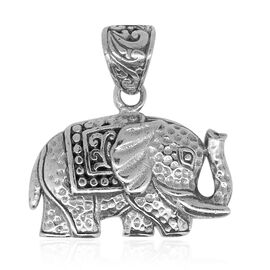 Royal Bali Collection Sterling Silver Elephant Pendant, Silver wt. 4.01 Gms.