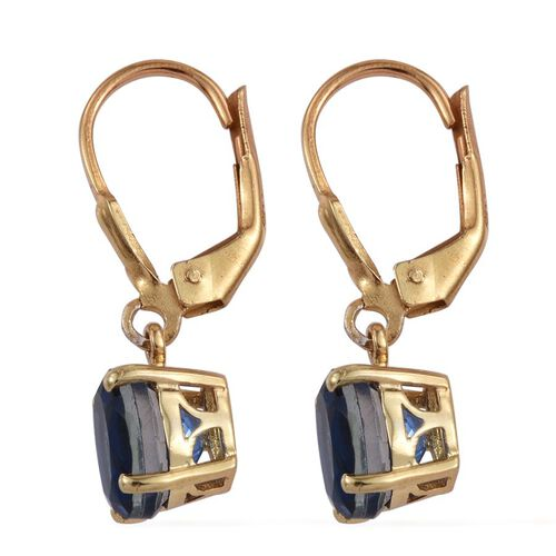 Ceylon Colour Quartz (Ovl) Lever Back Earrings in 14K Gold Overlay Sterling Silver 3.250 Ct.