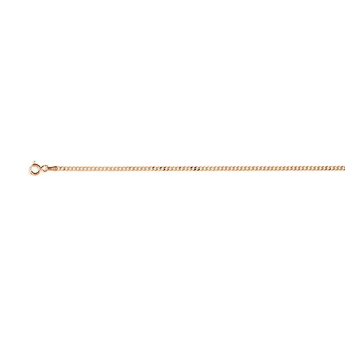 Vicenza Collection 14K Gold Overlay Sterling Silver Flat Curb Chain (Size 18)