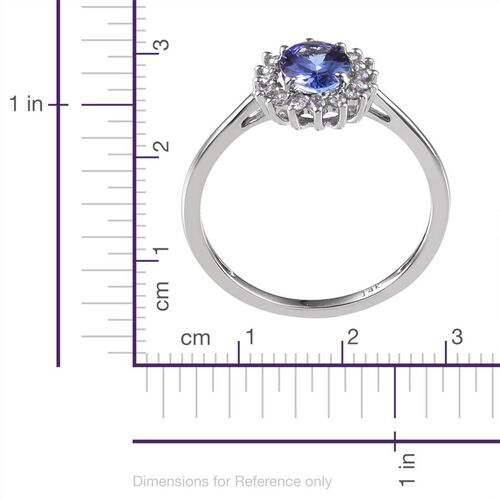14K W Gold Tanzanite (Ovl 0.75 Ct), Diamond Ring 0.900 Ct.