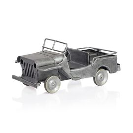 Home Decor - Silver Colour Handmade Old Jeep