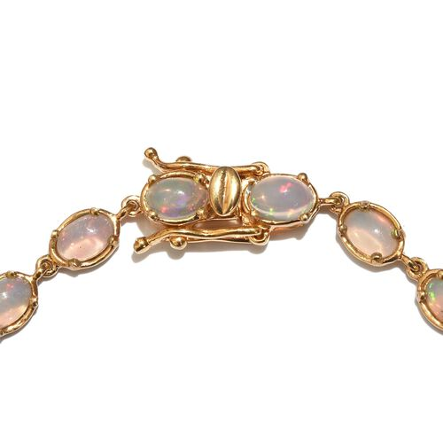 AAA Ethiopian Welo Opal (Ovl) Bracelet in 14K Gold Overlay Sterling Silver (Size 8) 5.500 Ct.