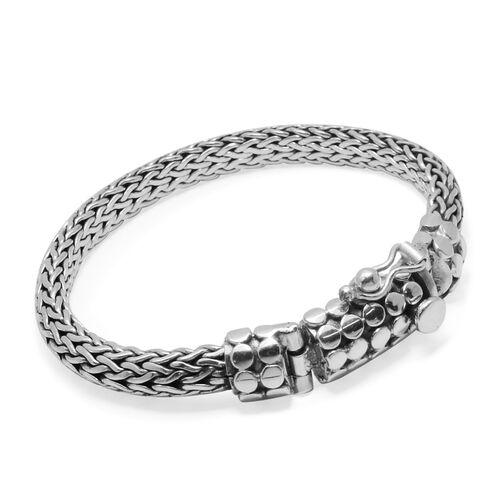 Royal Bali Collection Sterling Silver Tulang Naga Bracelet (Size 7), Silver wt 38.00 Gms.