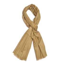 100% Cashmere Wool Dark Beige Colour Shawl (Size 200x70 Cm)