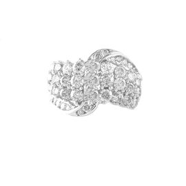 Limited Edition- Close Out Deal 9K White Gold AGI Certified Diamond (Rnd) (I1/G-H) Ring 2.000 Ct., Gold wt. 5.60 Gms.