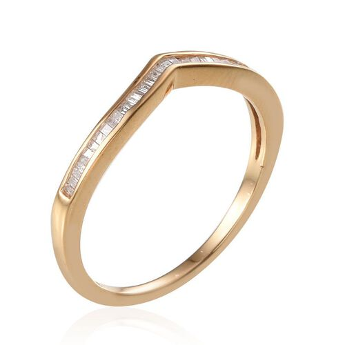 Diamond (Bgt) Wishbone Ring in 14K Gold Overlay Sterling Silver 0.250 Ct.