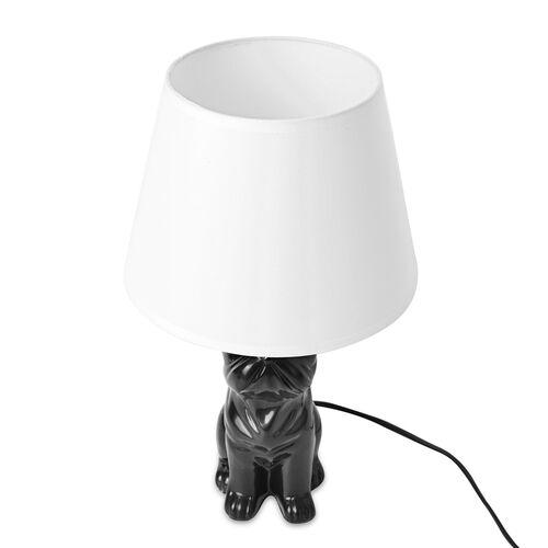 Home Decor - Black Colour Shar Pei Design Table Lamp (Size 38x20.5 Cm)