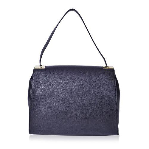 Black Colour Crossbody Bag With Shoulder Strap (Size 30x13x26 cm)
