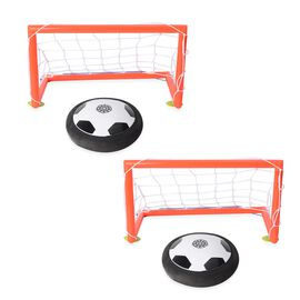 Black and White Colour Light Up Air Football (Size 18x18x7 Cm)