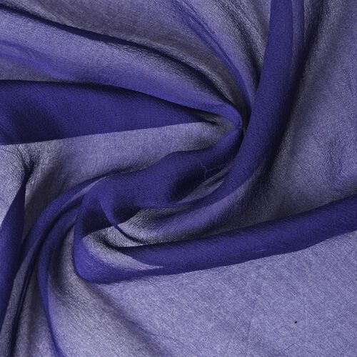 Pantone Collection - 100% Mulberry Silk Navy Colour Scarf (Size 170X70 Cm)