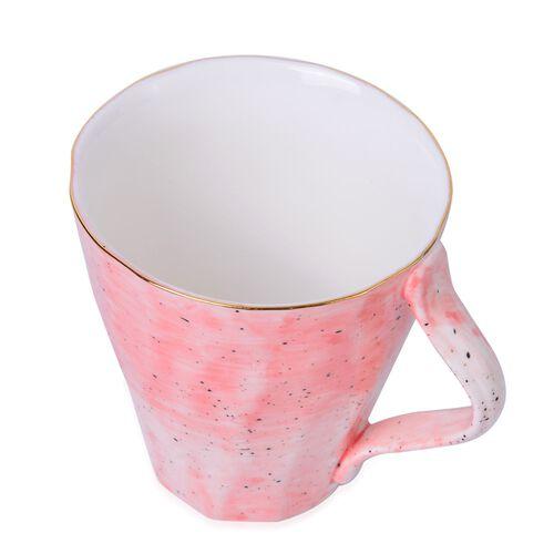 Luxury Edition Home Decor - 3 pcs Hand Painted Rose Colour Top Grade Porcelain Dining Set