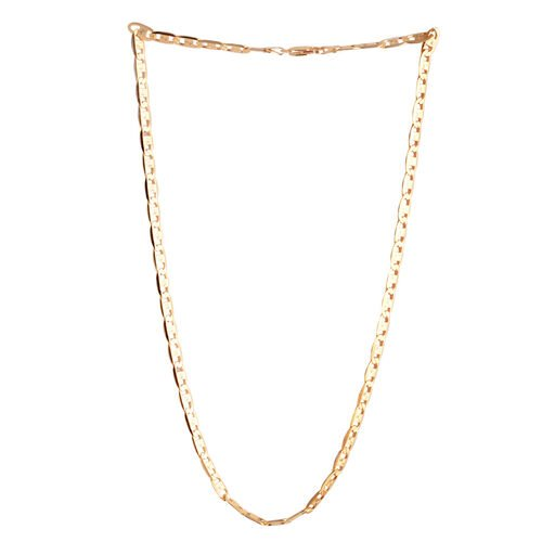 Close Out Deal Yellow Gold Overlay Sterling Silver Valentino Necklace (Size 20), Silver wt 17.20 Gms.