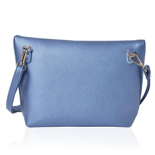 Celia Light Blue Shoulder Bag with Adjustable and Removable Shoulder Strap (Size 26x20x17x7 Cm)