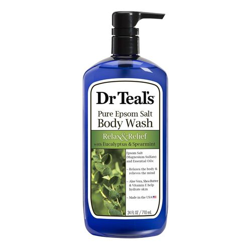 Dr Teals Pure Epsom Salt Body Wash Relax and Relief with Eucalyptus and Spearmint  710 ml