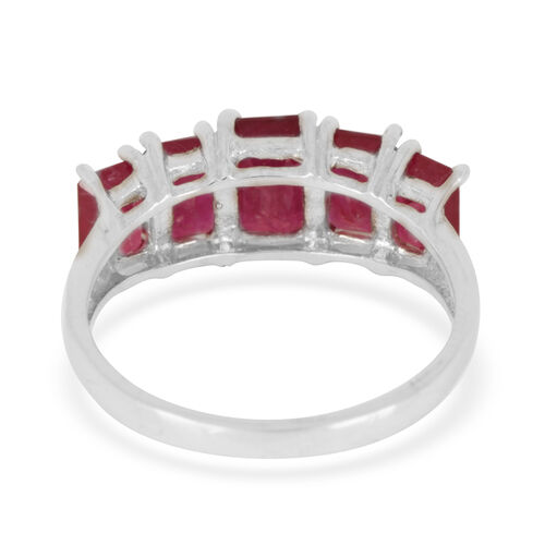 African Ruby (Oct 2.17 Ct) Ring in Sterling Silver 6.850 Ct.