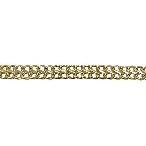 Close Out Deal 9K Y Gold Italian Otto Link Necklace (Size 17), Gold Wt 6.01 Gms.