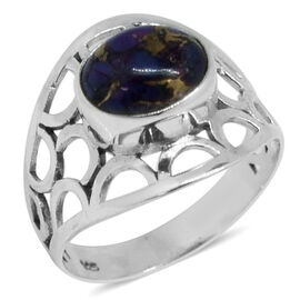 Royal Bali Collection Mojave Purple Turquoise (Ovl) Ring in Sterling Silver 2.735 Ct.