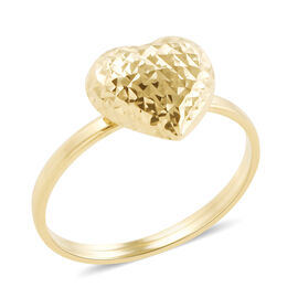 Royal Bali Collection 9K Yellow Gold Heart Ring