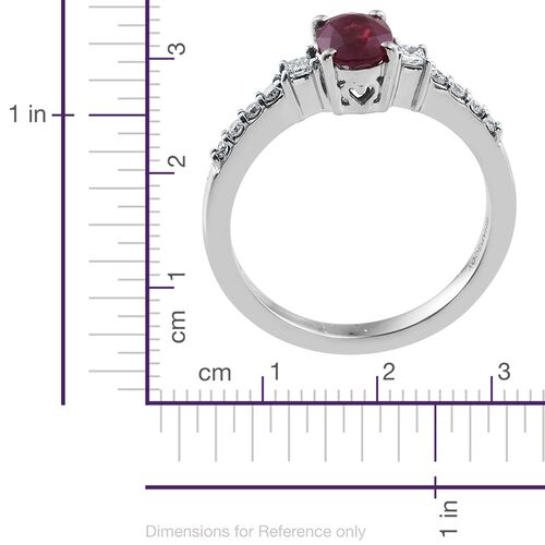 RHAPSODY 950 Platinum 1 Carat AAAA Burmese Ruby and Diamond  (VS/E-F) Ring