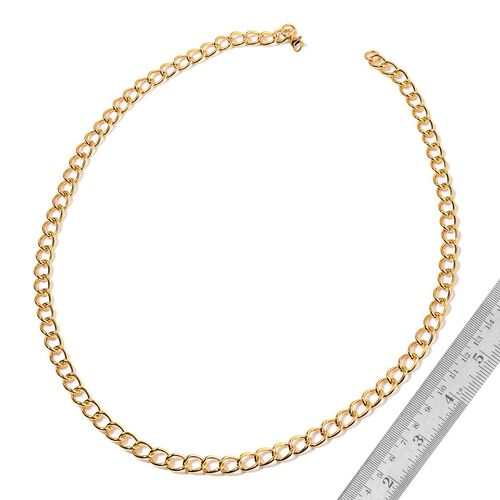 Curb Necklace (Size 30) and Bracelet (Size 8.50) in ION Plated Yellow Gold Stainless Steel