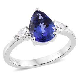 RHAPSODY 950 Platinum AAAA Tanzanite, Diamond (VS/ E-F) Ring 2.30 Ct