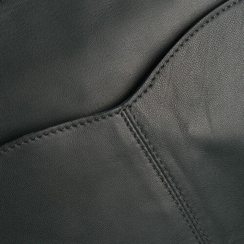 100% Genuine Leather RFID Blocker Olive Green Colour Shoulder Bag with External Zipper Pocket (Size 34X31X26X6 Cm)