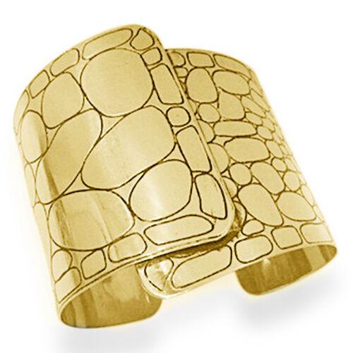 Jewels of India Handicraft Wide Cuff in Goldtone