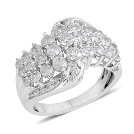 Limited Edition- Close Out Deal 9K White Gold Diamond (I1-I2) Ring 2.000 Ct.Gold Wt 5.50 Gms
